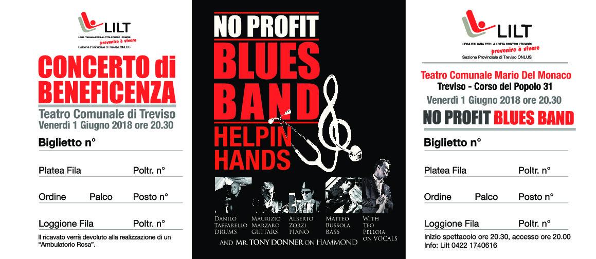 La No Profit Blues Band in concerto per la LILT