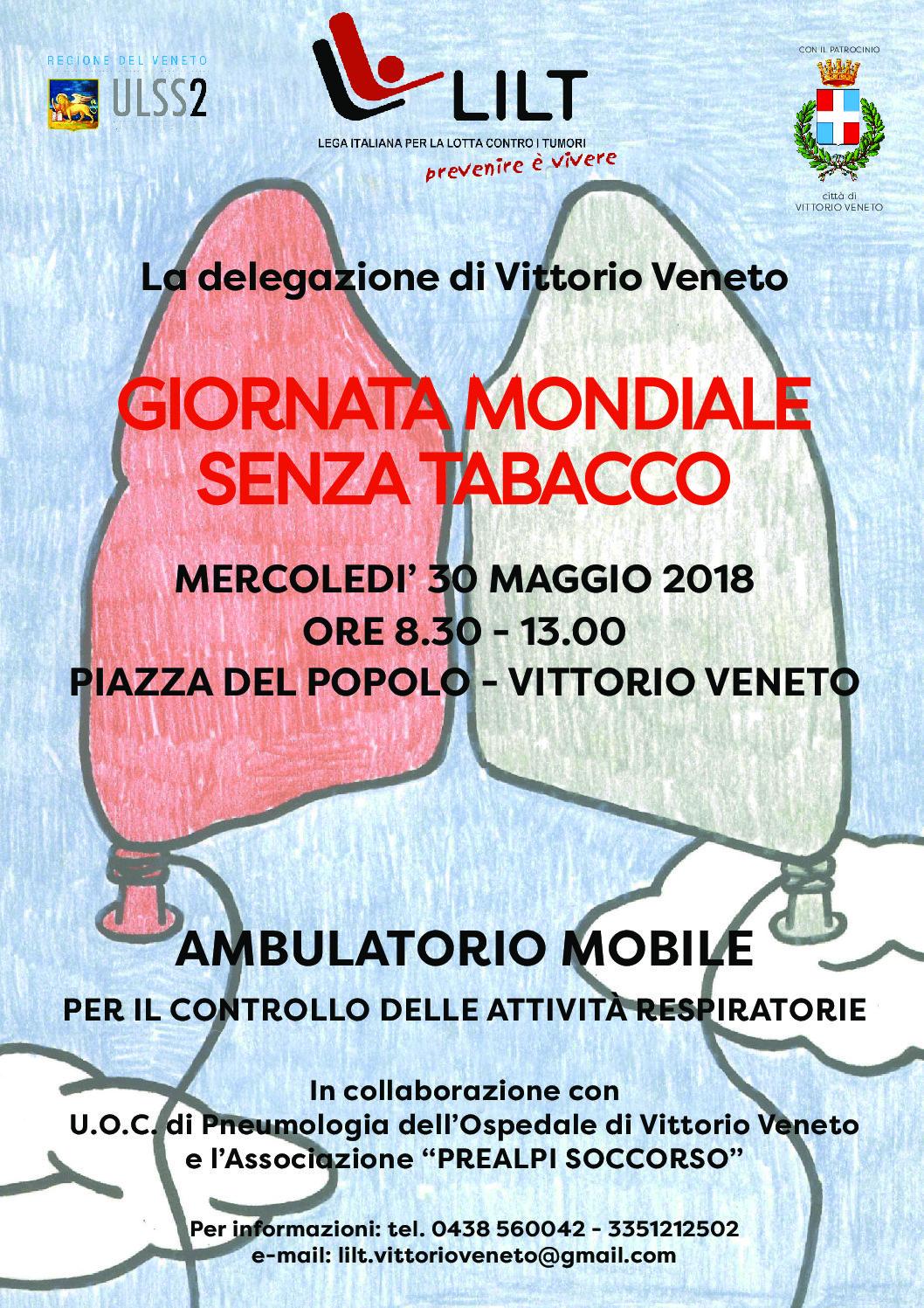 30.05.2018 Giornata Mondiale Senza Tabacco a Vittorio Veneto