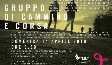 14 aprile, prossimo ritrovo del Gruppo di cammino e corsa