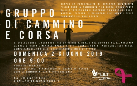 02.06.19 Nuovo appuntamento del Gruppo di Cammino e corsa LILT