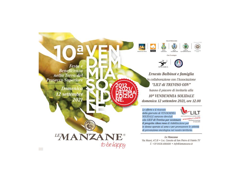 Vendemmia Solidale Le Manzane a sostegno di LILT Treviso